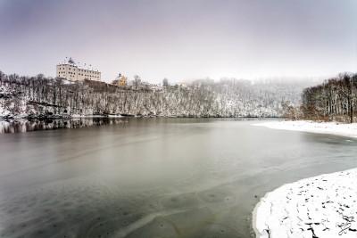 winterliche Ruhe am Schloß Burgk